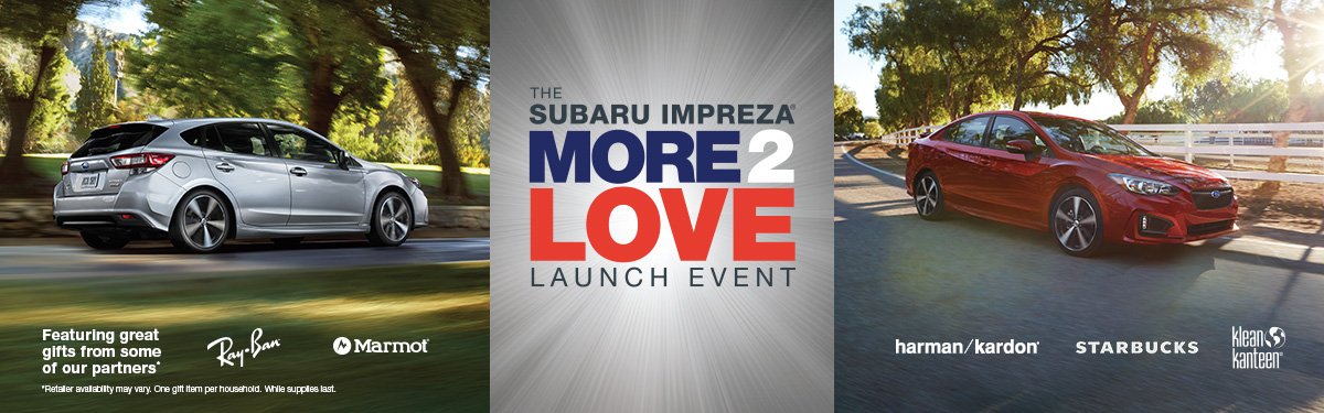 The Beyer Subaru Impreza More2Love Launch